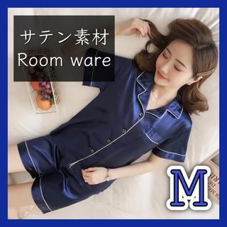 [新品]レディース ルームウェア パジャマ 半袖 上下セット サテン 部屋着