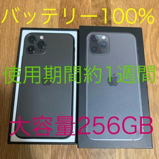 iPhone - iPhone11Pro 256GB SIMフリー バッテリー100% 新品同様