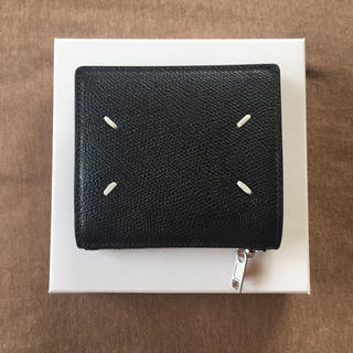 Maison Martin Margiela - 20SS新品 メゾン マルジェラ グレインレザー 折り財布 黒 メンズ ブラック