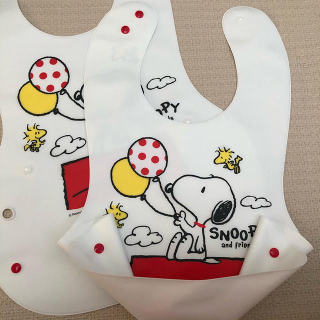 SNOOPY(スヌーピー)のSNOOPY 食事エプロン 一枚新品 キッズ/ベビー/マタニティの授乳/お食事用品(お食事エプロン)の商品写真