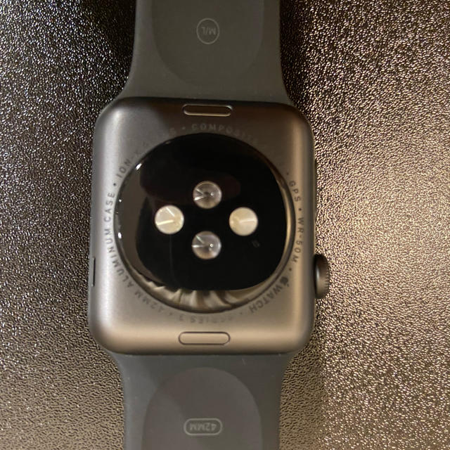 Apple Watch(アップルウォッチ)のApple Watch 3 42mm GPSモデル スペースグレイ メンズの時計(腕時計(デジタル))の商品写真