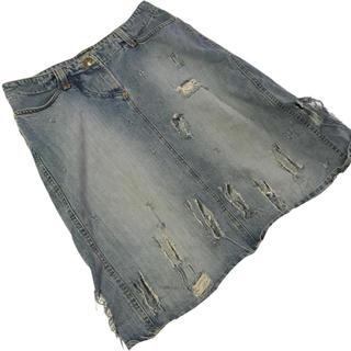 ヴィヴィアンウエストウッド(Vivienne Westwood)のヴィヴィアンウエストウッド デニムスカート (ひざ丈スカート)