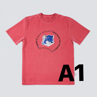 MAISON KITSUNE' - Triple fox head t-shirt Pink