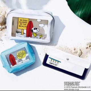 SNOOPY - 新品 SNOOPY スヌーピー 窓付きサマーポーチ 3個セット