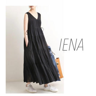 IENA - 【IENA】ウエスト リボン ティアードワンピース