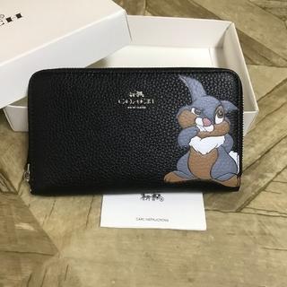 COACH - 新品未使用 コーチ×ディズニー 限定コラボ ミディアム ジップ 財布 ブラック