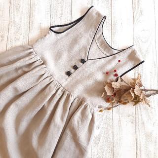 nest Robe - ハンドメイド商品♪♪♪大人服☆リネンのジャンパースカート ライトベージュ