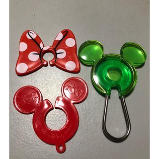 ミッキーマウス(ミッキーマウス)のミッキーマウス キーホルダー他 3点 ディズニーランド(キャラクターグッズ)