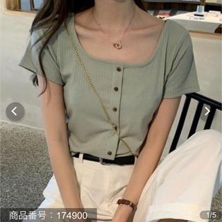 ゴゴシング(GOGOSING)のスクエアネック 半袖無地Tシャツ(Tシャツ(半袖/袖なし))