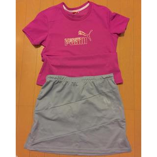 プーマ(PUMA)のPUMA ドライTシャツ  DESCENTE ドライスカート セット(その他)