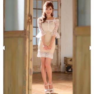 dazzy store - 明日花キララ着用エレガントレースオフショルダータイトミニドレス