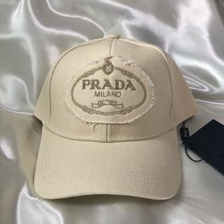 PRADA -  【新品 未使用】Prada キャップ クリーム 帽子 プラダ