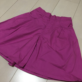 GU - GU/フレアショートパンツ/ピンク/150サイズ