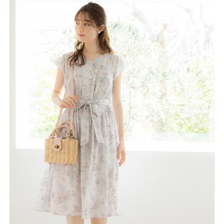 tocco - tocco コラボ♡ウエストりぼん付きブーケフラワープリントワンピース♡ピンク♡