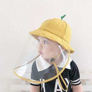 【新品】♡イエロー♡子供帽子 ウイルス対策フェイスカバー帽子 飛沫対策
