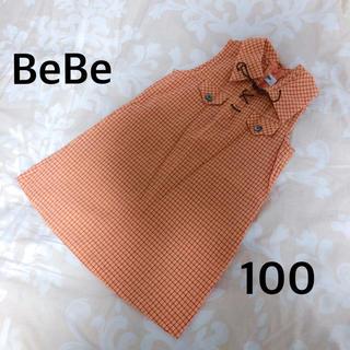 ベベ(BeBe)の BeBe ワンピース カットソー ノースリーブ (ワンピース)