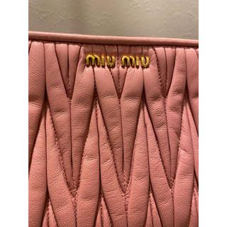miumiu - miumiu ピンクショルダーバッグ