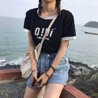 dholic - 韓国ファッションoioi Tシャツ  カットソー ブラック