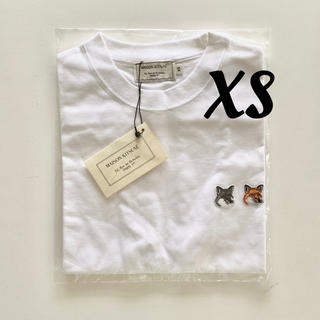 MAISON KITSUNE' - 【即日発送】新品 メゾンキツネ Tシャツ ダブルフォックス ホワイトXS