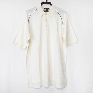 エルメネジルドゼニア(Ermenegildo Zegna)のゼニア 半袖ポロシャツ サイズL メンズ 白(ポロシャツ)