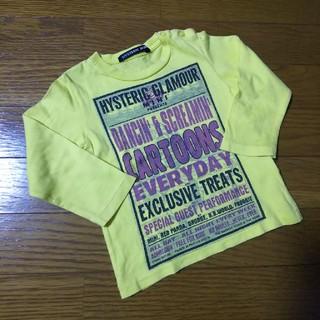 ヒステリックミニ(HYSTERIC MINI)の■ヒスミニ ロンT 黄色(Tシャツ/カットソー)