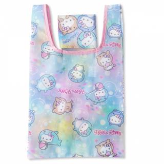 ゆめかわ エコバッグ サンリオ キティ 魚柄  虹色  バック 買い物袋