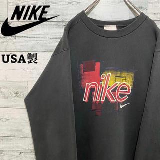 NIKE - 【激レア】ナイキ NIKE☆USA製 ビッグロゴ スウェット プルオーバー90s