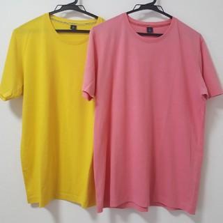 ユニクロ(UNIQLO)のUNIQLO カラーTシャツ Lサイズ QUICK DRY 2枚セット(Tシャツ/カットソー(半袖/袖なし))