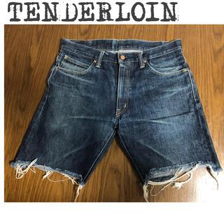 テンダーロイン(TENDERLOIN)の☆TENDERLOIN デニムハーフパンツ L(ショートパンツ)