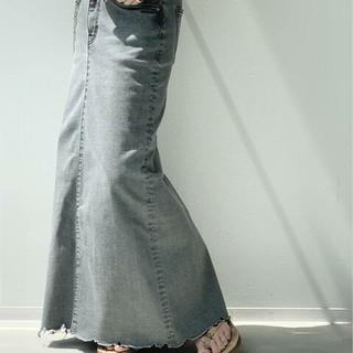 アパルトモンドゥーズィエムクラス(L'Appartement DEUXIEME CLASSE)の新品【GOOD GRIEF/グッドグリーフ】DENIM LONG スカート36(ロングスカート)