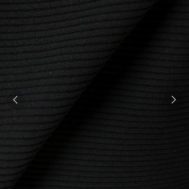 IENA(イエナ)の専用 【IENA】コットンストレッチリブプルオーバー ブラック レディースのトップス(ニット/セーター)の商品写真