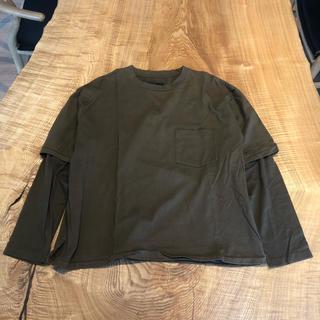 アンユーズド(UNUSED)のbukht ブフト ロンT シャツ ブラウン カットソー(Tシャツ/カットソー(七分/長袖))