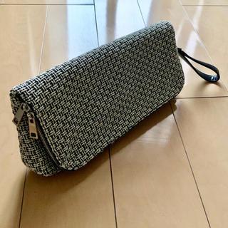 ムルーア(MURUA)のMURUA ムルーア クラッチバッグ バッグ 鞄 ツイード 異素材 レザー 革(クラッチバッグ)