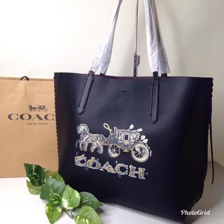 COACH - コーチ トートバッグ 馬車 ブラック 【新品】