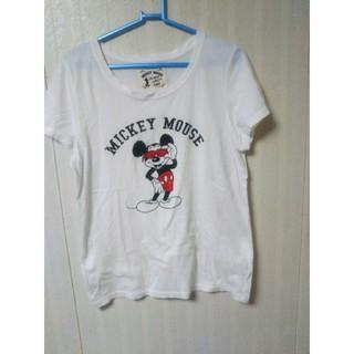 ミッキーマウス(ミッキーマウス)のディズニー ミッキーマウス ホワイト半袖Tシャツ(Tシャツ(半袖/袖なし))