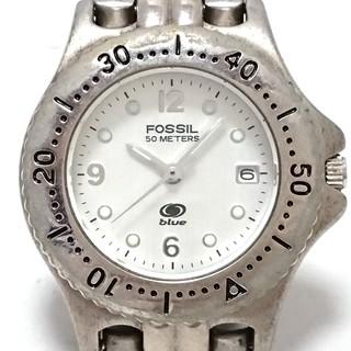 フォッシル(FOSSIL)のフォッシル 腕時計 - レディース 白(腕時計)