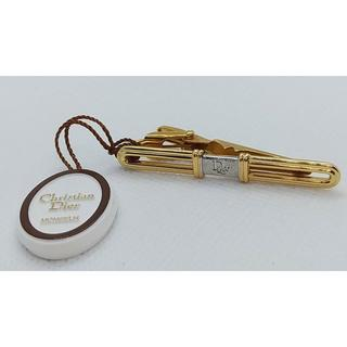 Dior クリスチャンディオール ロゴ ネクタイピン シルバー×ゴールド