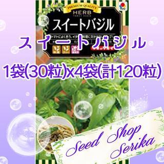 ⑯スイートバジル 30粒×4袋(120粒) SeedShop♥SERIKA♥(その他)