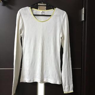 スカラー(ScoLar)のscolar 長袖 Tシャツ イエロー(Tシャツ(長袖/七分))