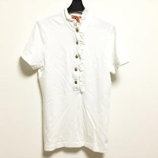 トリーバーチ(Tory Burch)のトリーバーチ 半袖ポロシャツ サイズXS 白(ポロシャツ)