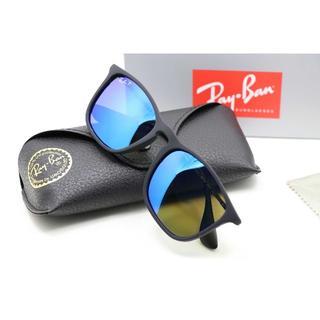 レイバン(Ray-Ban)の新品 レイバン サングラス RB4187 ブルー ミラー 偏光 2本8000(サングラス/メガネ)