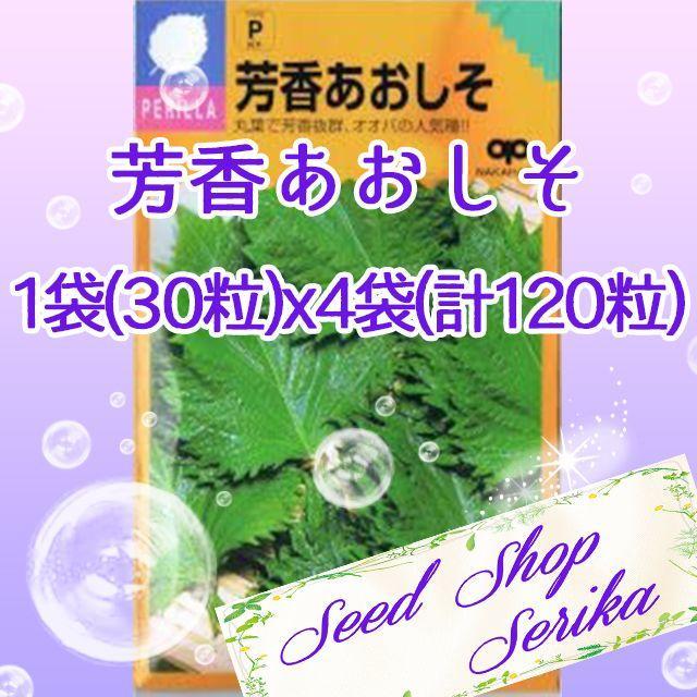 ㉘芳香あおしそ 30粒×4袋(120粒) ハーブ 種 ハンドメイドのフラワー/ガーデン(その他)の商品写真