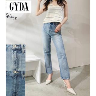 GYDA - GYDA シンプルワイドデニム