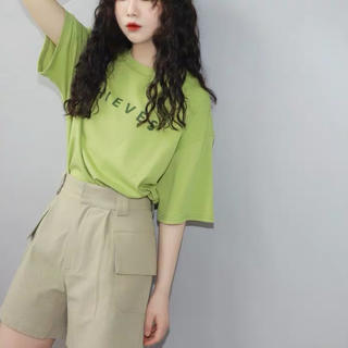 dholic - 夏服レディーストップス だぶだぶTシャツゆったりオーバーサイズ韓国ファッション