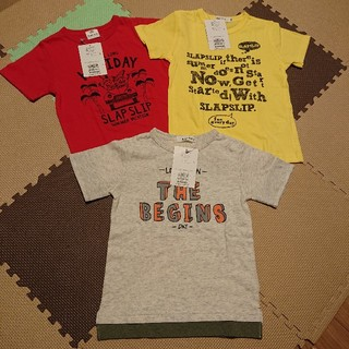BeBe - 【新品タグ付き】SLAP SLIP Tシャツ 110cm 3枚set