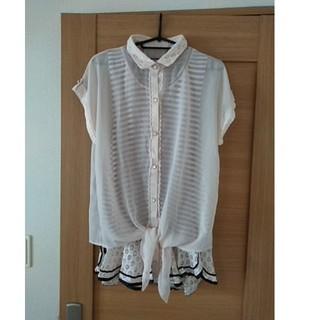アクシーズファム(axes femme)のシースルーボーダーシャツ(Tシャツ/カットソー(半袖/袖なし))