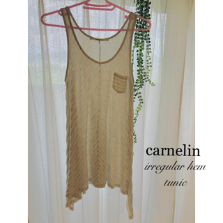 carnelian - 【NEW☆8.5】カーネリアン carnelian ノースリーブ 変形ヘム