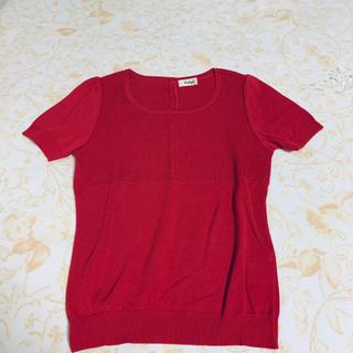 ノーリーズ(NOLLEY'S)の新品 赤 ピンク カットソー  トップス 半袖 ノーリーズ  可愛い シンプル(カットソー(半袖/袖なし))