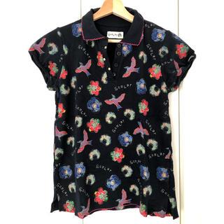 スカラー(ScoLar)のスカラー 総柄 ポロシャツ ネイビー 半袖 Scolar M スカラ子 (Tシャツ(半袖/袖なし))