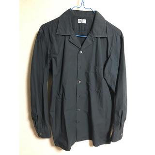 UNIQLO - ユニクロU オープンカラーシャツ 長袖 濃緑